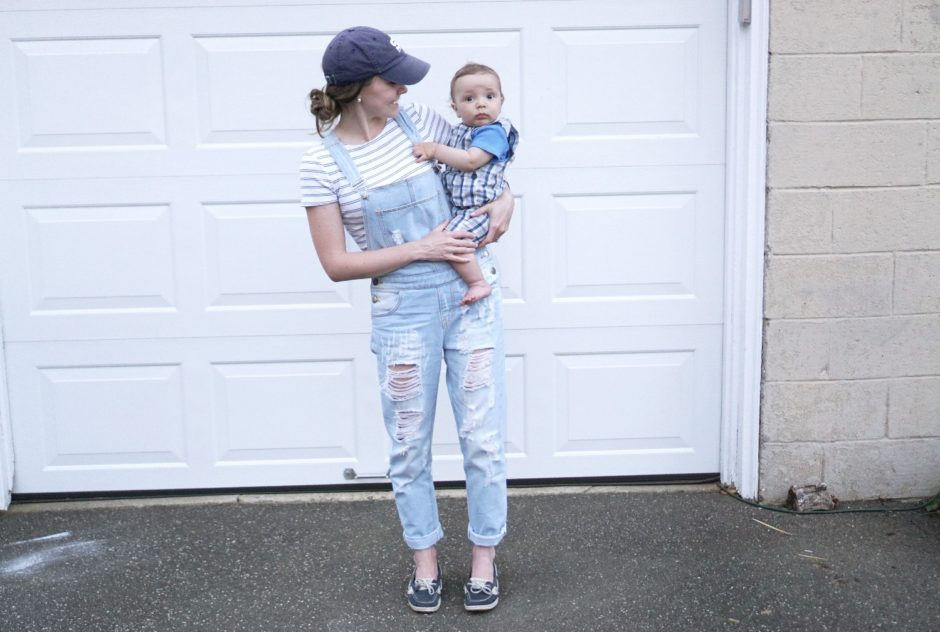 Pink Blush Denim Overalls are The Perfect Summer Wardrobe Statement for New Moms