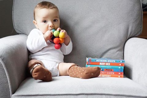 Teddy with rainbow grasper, starmilk kids fox socks and babylit books
