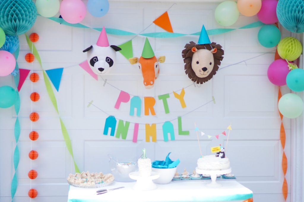 Party Animal Funfetti Cake Topper First Birthday Decorations