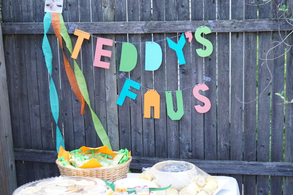 Teddy's Favorite Food Party Animal First Birthday Party Menu