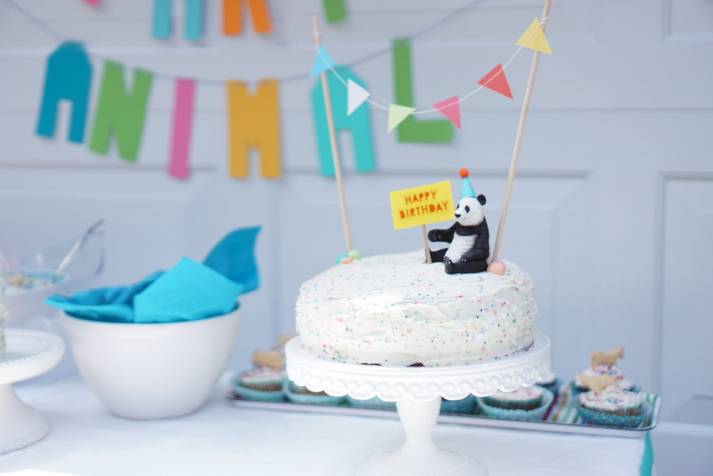 Party Animal Funfetti Cake Topper First Birthday