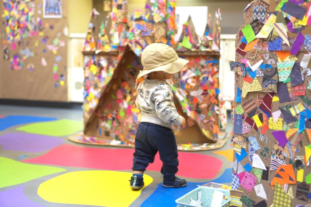 Gaudi Cardboard Houses Bay Area Discovery Museum Sausalito San Francisco Toddlers