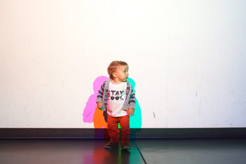 exploratorium san francisco colored shadows toddler