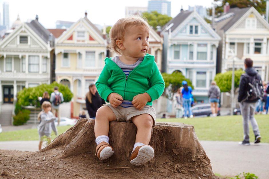 Cute San Francisco Baby Painted Ladies