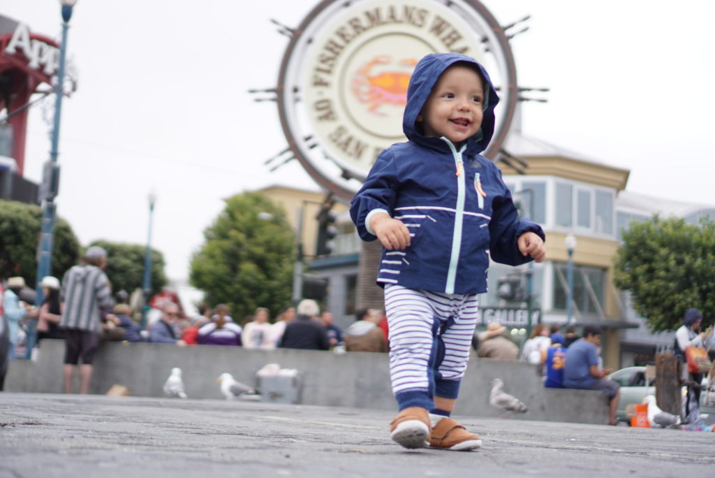 Fisherman's Wharf San Francisco with a Toddler