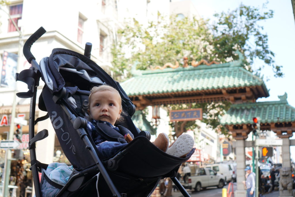 chinatown dragon gate san francisco with toddler