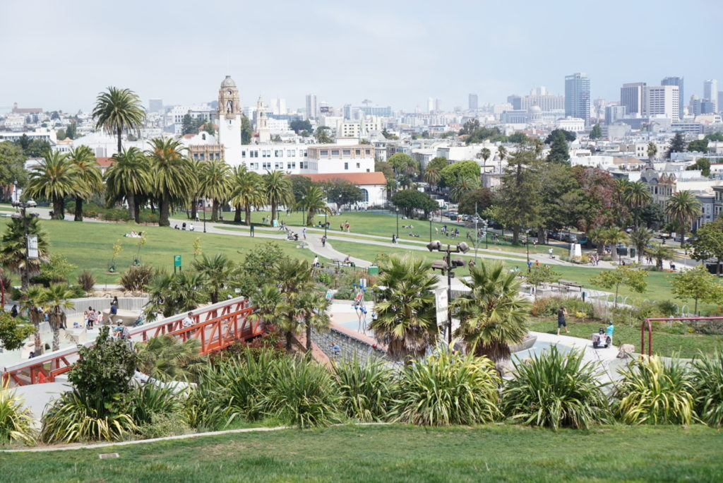 mission dolores hellen diller park san francisco with toddler