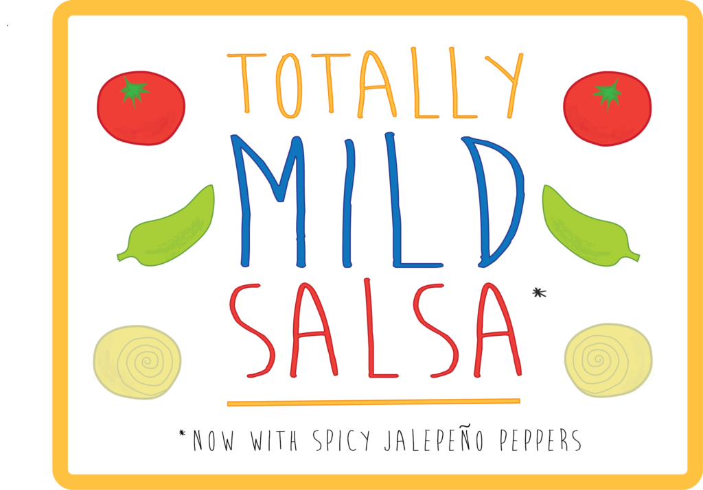 free printable totally mild salsa from Dragons Love Tacos Book Box Slime Jar Lable