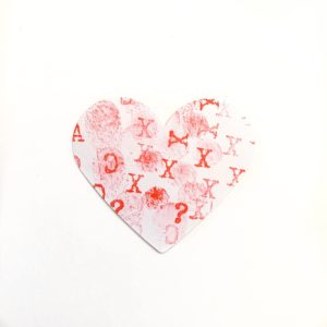 Fingerprint stamp heart craft toddler