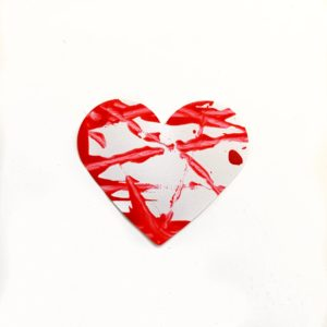 shake painting heart craft