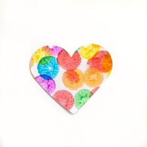 Dot marker heart craft toddler
