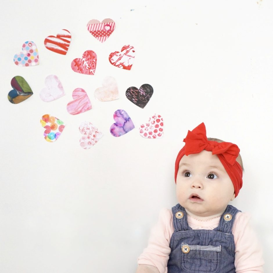 Heart art for toddlers for Valentine's Day 14 different art projects