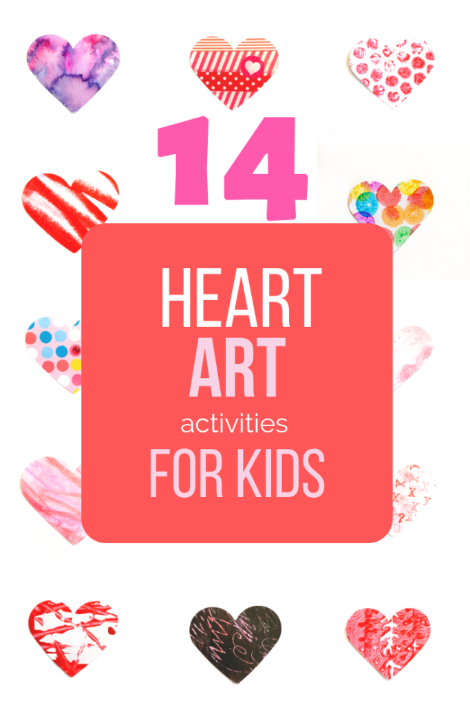 14 days of HEART ART for toddlers