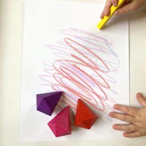 DIY Crayon Scratch Valentine Hearts