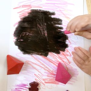DIY Crayon Scratch Art Valentine Hearts