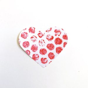 bubble wrap print heart craft toddler