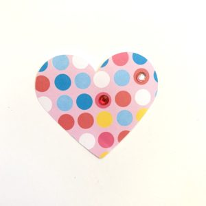 Scrapbook paper heart craft toddler