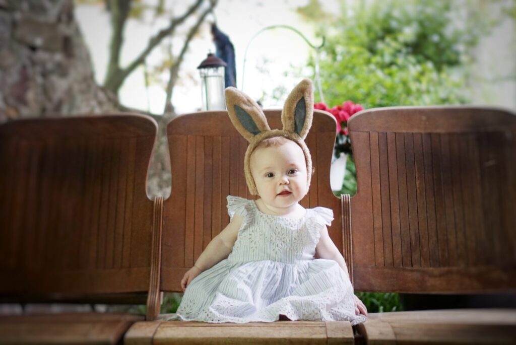 Peter Rabbit first birthday party outfit