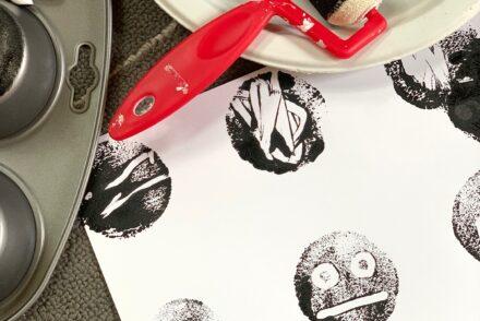 Muffin Tin Monoprints