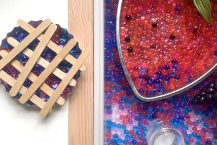 Berry Sensory Bin Water beads Fruit