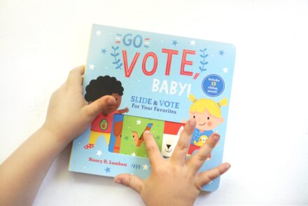 GO VOTE BABY board book