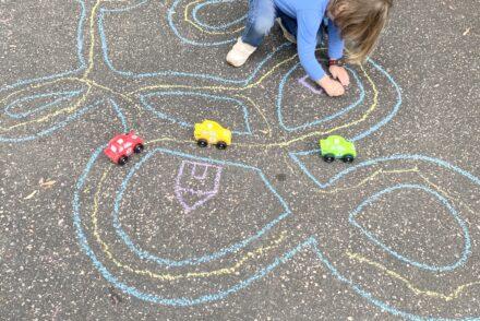 Sidewalk Chalk Roads